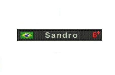 Tarjeta com bandeira Brasil ou estado nome e tipo Sanguíneo
