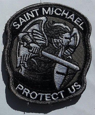 Bordado com velcro São Miguel Arcanjo proteção