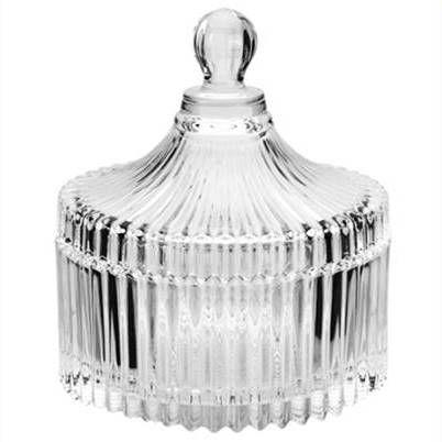 Bomboniere de vidro ou Porta Joias PEQUENA 13 cm altura - CIRCUS - Ref 7007