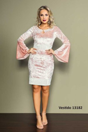 Vestido veludo lady