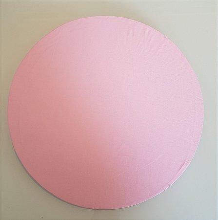 Capa de tecido para sousplat rosa claro liso
