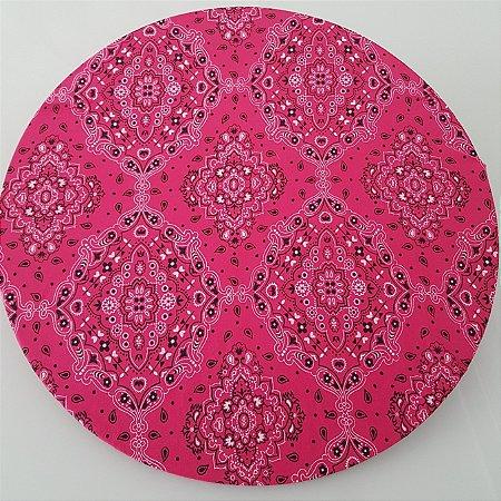 capa de tecido souplast bandana rosa pink com preto