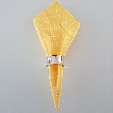 Guardanapo fundo amarelo com bolinhas brancas