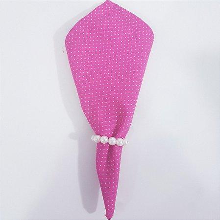 Guardanapo fundo pink com bolinhas verdes