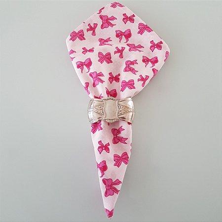 Guardanapo fundo rosa com laços pink