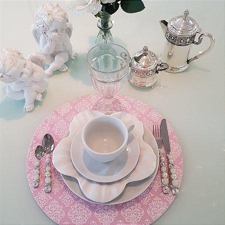 Capa Sousplat mosaico rosa claro