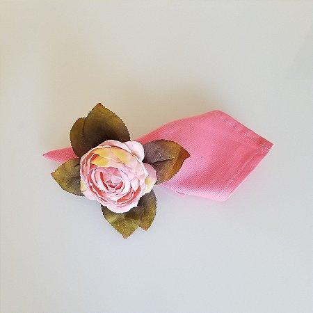 Guardanapo algodao 42cm rosa brim levinho