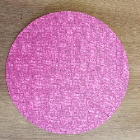 Capa de tecido riscadinho rosa