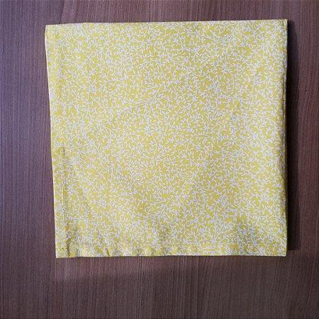 Guardanapo de tecido algodão 42cm machado amarelo