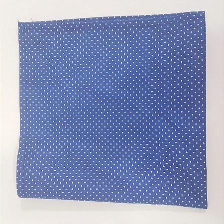 Guardanapo de tecido 42cm fundo azul marinho com bolinhas brancas