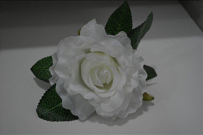 porta guardanapo flor branca
