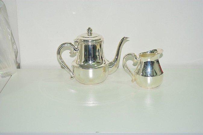 Conjunto Bule banhado a prata