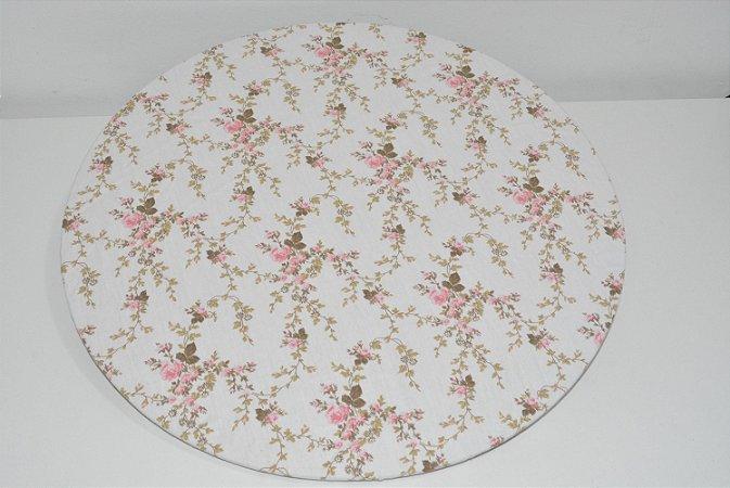 capa sousplat fundo branco com flores delicadas rosa