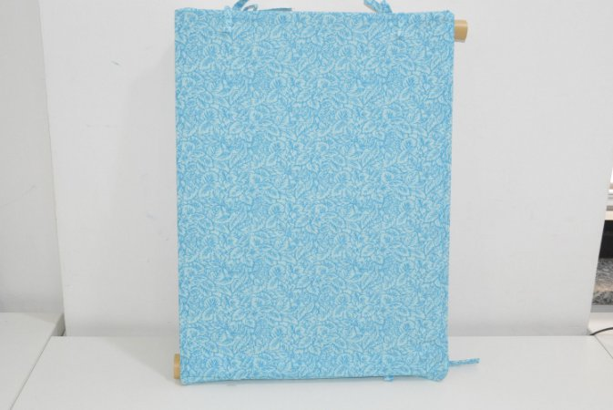 Bandeja de MDF azul flores