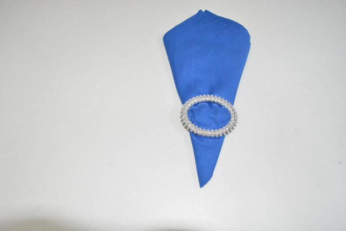 guardanapo azul medio liso