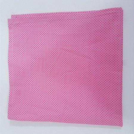 guardanapo de poá fundo rosa com bolinhas rosa pink
