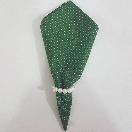 guardanapo poá fundo verde com bolinhas brancas