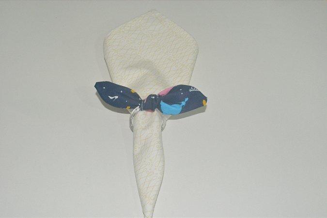 Porta Guardanapo de tecido fundo azul princesa Cinderela
