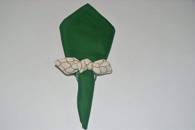Porta Guardanapo tecido fundo bege com detalhes marrom