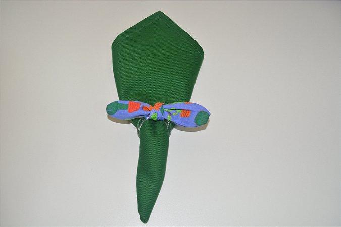 Porta Guardanapo tecido fundo roxo com Cactos