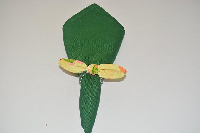 Porta Guardanapo de tecido fundo verde claro com cactos floridos