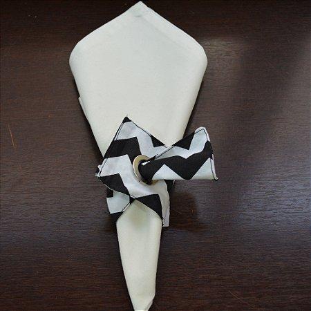 Porta guardanapo de tecido chevron preto