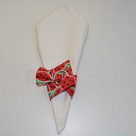 Porta guardanapo de tecido fundo com fatias de melancia