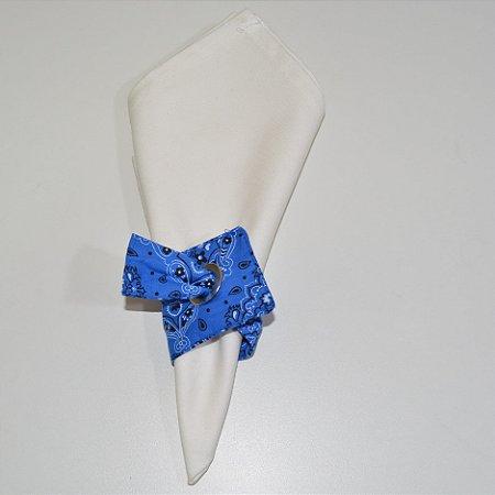 Porta guardanapo de tecido bandana azul escuro