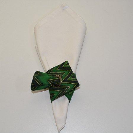 Porta guardanapo de tecido zigue-zague verde