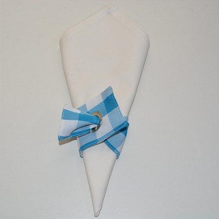 Porta guardanapo de tecido xadrez azul