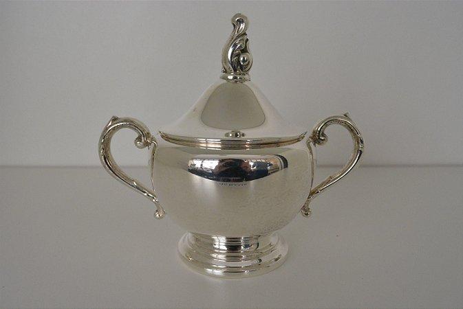 açucareiro banhado a prata