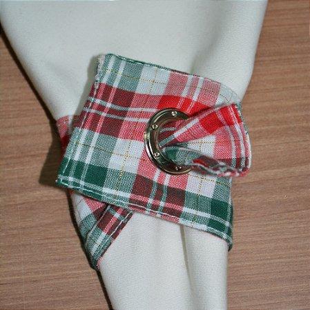Porta guardanapo de tecido fundo xadrez