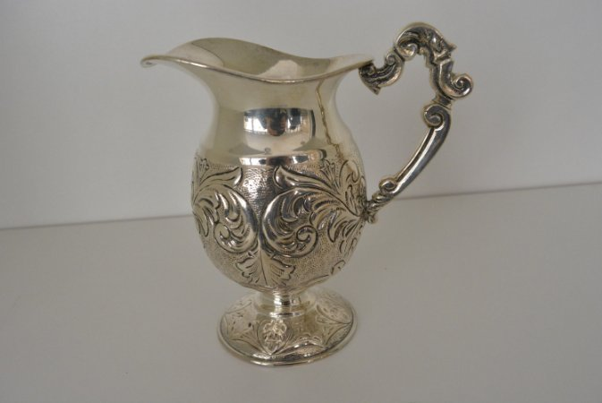 leiteira banhada a prata