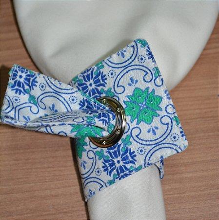 Porta guardanapo de tecido mosaico azulejo