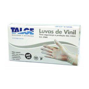 Luvas de Vinil - Tamanho G - Caixa com 100 unidades
