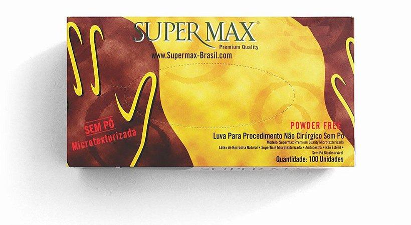 Luvas de Látex - SUPERMAX - Tamanho G - Sem Pó - Caixa com 100 unidades