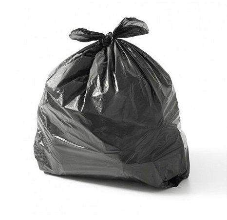 Saco Plástico para Lixo 59x70 - Ultra Resistente - 60 Litros - Alta Densidade - Preto - Itaquiti - Com 100 Unidades