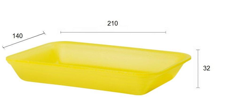 Bandeja de Isopor - 210X140x32 - AMARELA FUNDA - B 2 - LINHA LEVE com 400 unidades