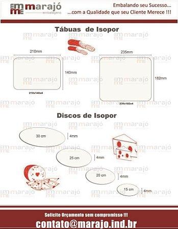 Disco de Isopor de 4 mm - Base redonda para disposição de alimentos