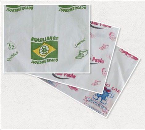 30 Fardos de Papel Acoplado Personalizado em até 2 cores - Tamanho 30X40 Monolúcido