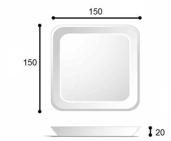 BANDEJA 150X150X20 - BRANCA - B1 - FARDO COM 400 UNIDADES
