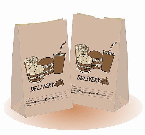 5,000 unidades Sacos Delivery 80 gramas - SOS 7,5 - Sem Alças - PERSONALIZADOS EM ATÉ 2 CORES
