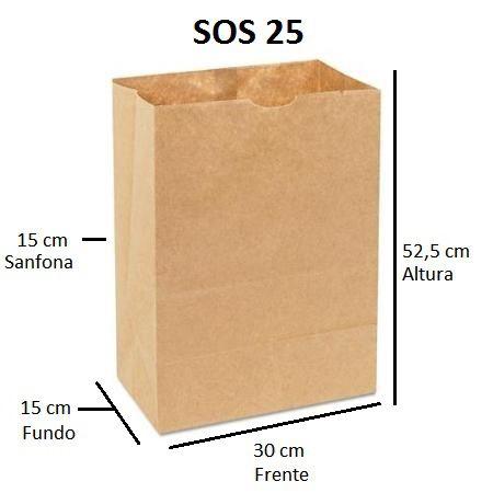 10,000 unidades Sacos Delivery 80 gramas - SOS 25  - Sem Alças - PERSONALIZADOS EM ATÉ 2 CORES