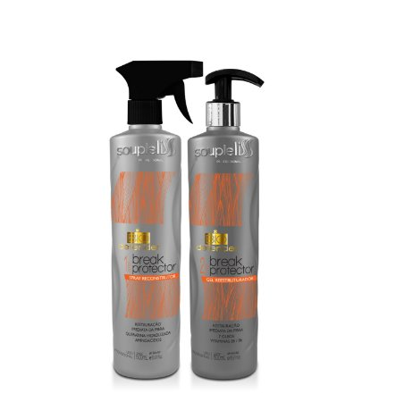 Bio Defender Break Protector 500ml - 2 passos  - Neutraliza a quebra em 5 minutos!! - Souple Liss