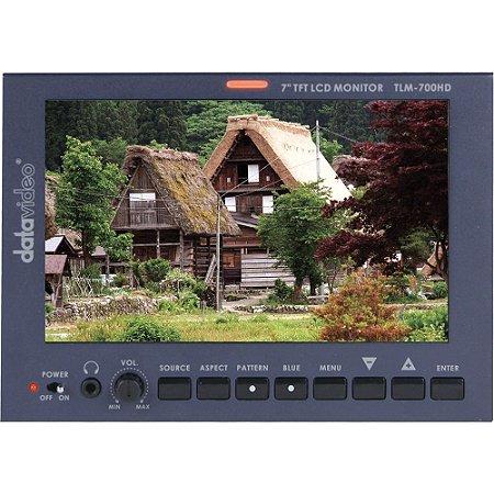 "Monitor LCD Datavideo TLM-700HD-S1 7 ""com suporte para bateria Sony"