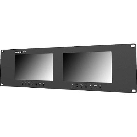 "Lilliput RM-7024-VD Dual 7"" Rackmount Monitors"