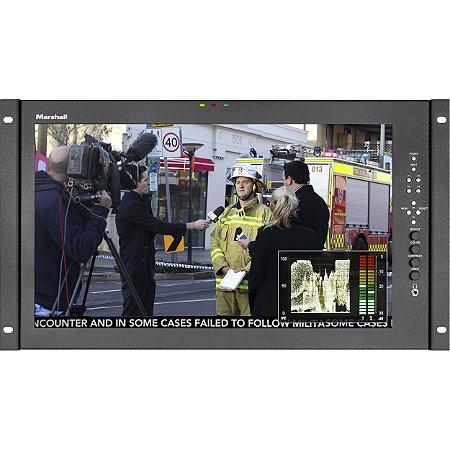 "Marshall Electronics Monitor Full HD de montagem em rack de 17,3 """