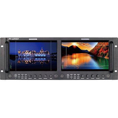 """JVC Dual 9 """"Full HD Broadcast Rack LCD Monitor (4 RU)"""