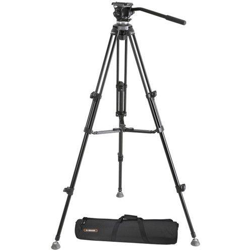 E-Image EK610 Tripé compacto profissional com cabeça fluida (65 mm)