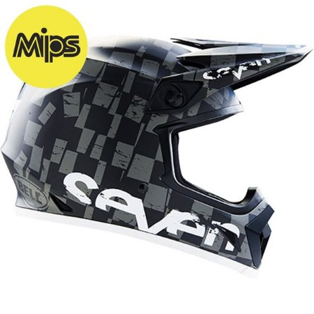 CAPACETE BELL MX-9 SEVEN CHECKMATE BLACK MIPS